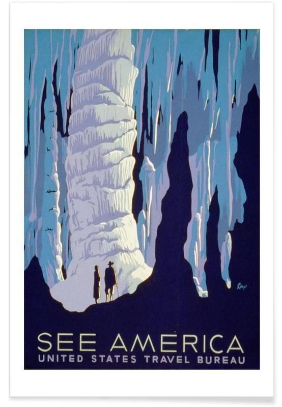 Voyages, Vintage, america2 affiche