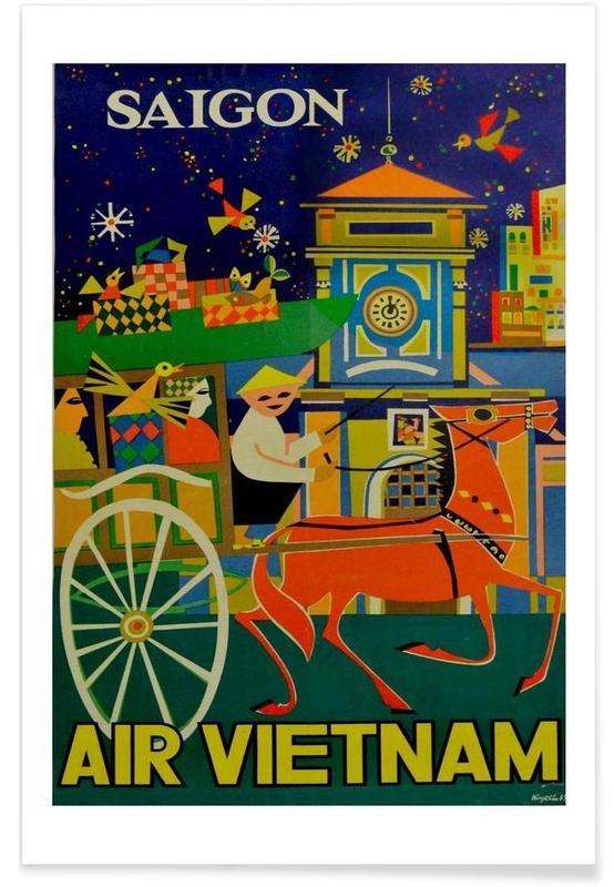 Voyages, Vintage, vietnam affiche