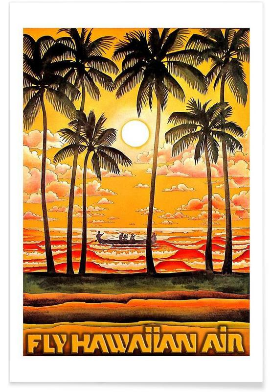 Voyages, Vintage, hawaii1 affiche