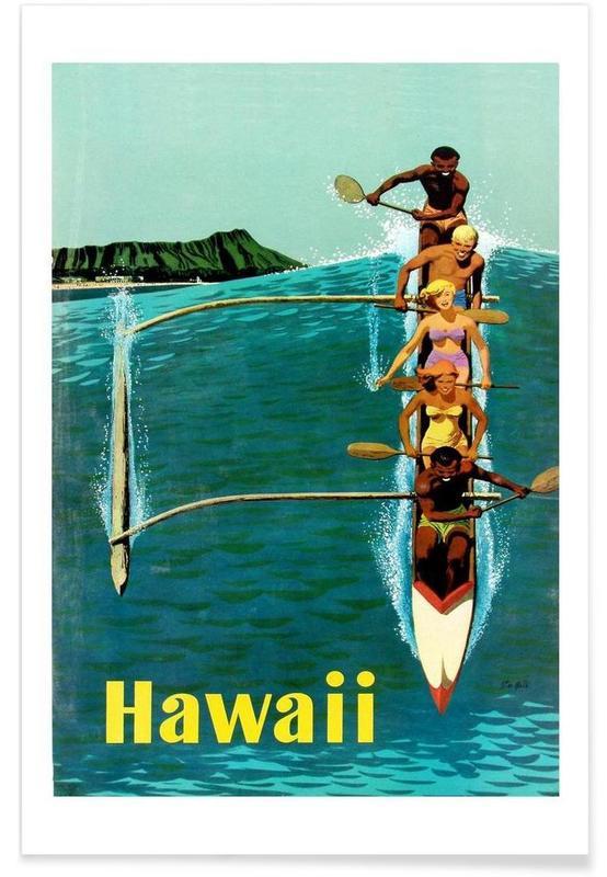 Voyages, Bateaux, Vintage, hawaii3 affiche