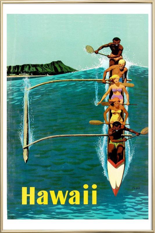 hawaii3 poster in aluminium lijst