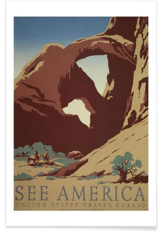Voyages, Vintage, america3 affiche