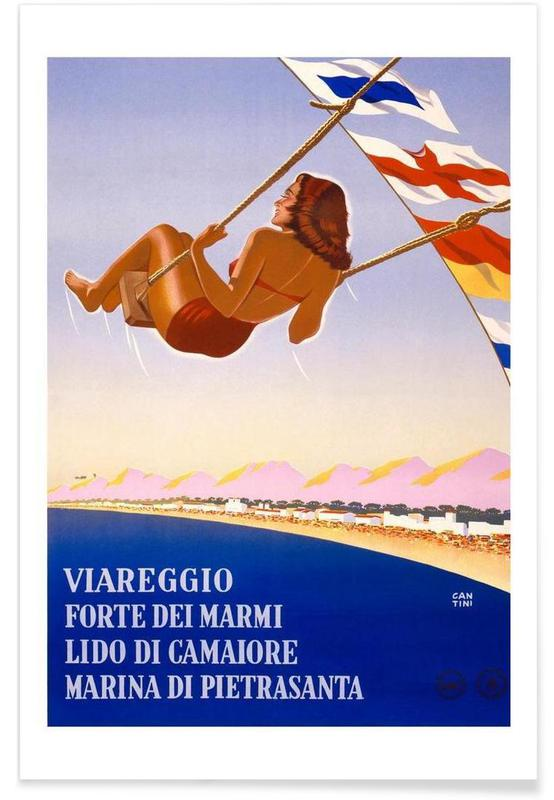 Voyages, Vintage, italy affiche