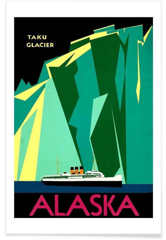 Voyages, Vintage, americaAlaska affiche