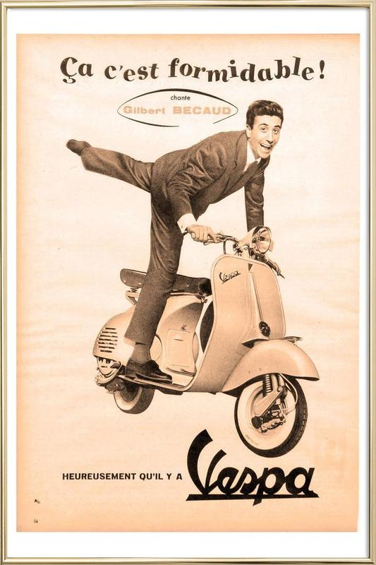 scooter Poster in Aluminium Frame