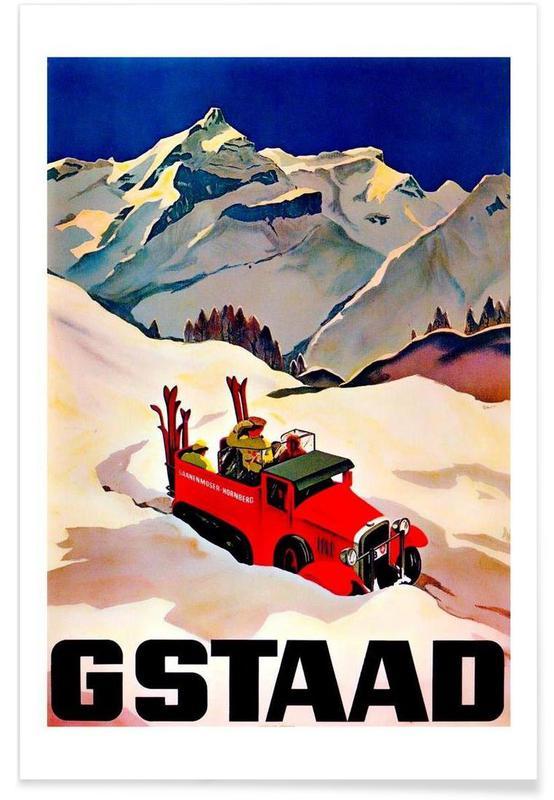 Voyages, Vintage, switzerland2 affiche
