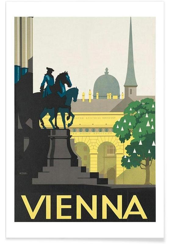 Voyages, Vienne, Vintage, vienna affiche