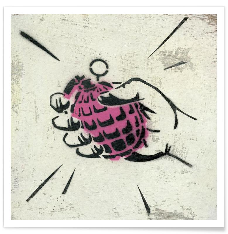 Street Art, Hand Grenade -Poster
