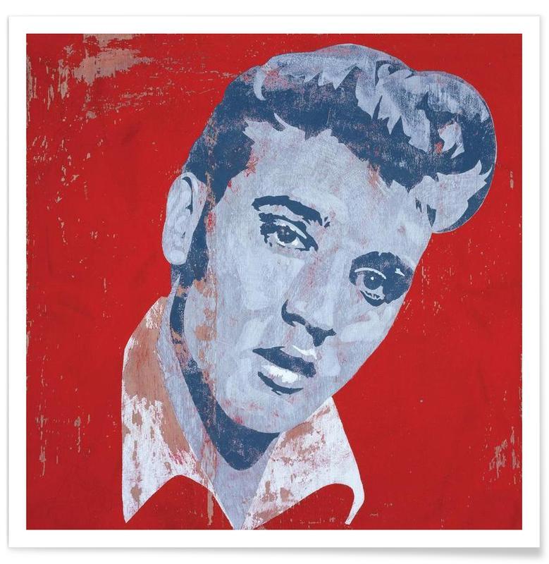 Rétro, Elvis, Pop Art, Elvis affiche