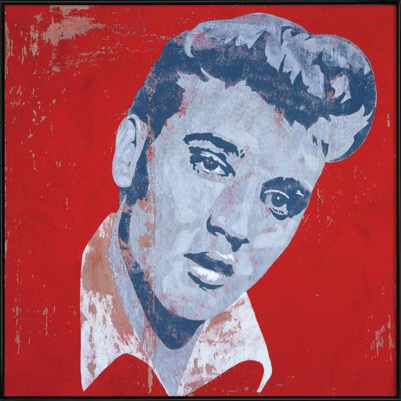 Elvis -Bild mit Kunststoffrahmen