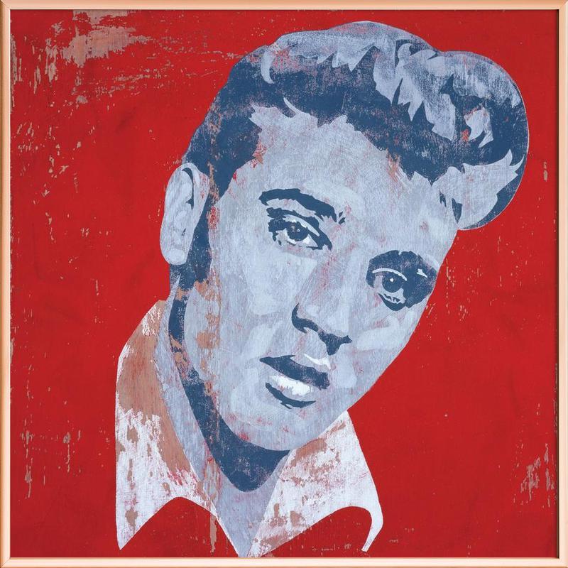 Elvis -Poster im Alurahmen