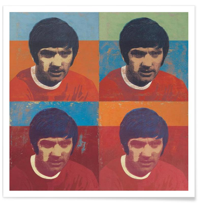 George Best 4 -Poster
