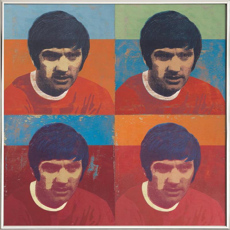 George Best 4 -Poster im Alurahmen