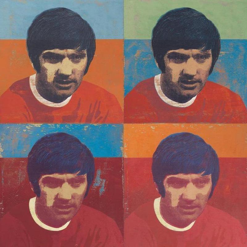 George Best 4 -Leinwandbild