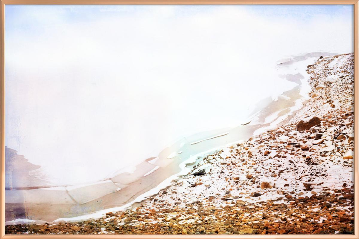 Bare Parts Lake Poster in Aluminium Frame