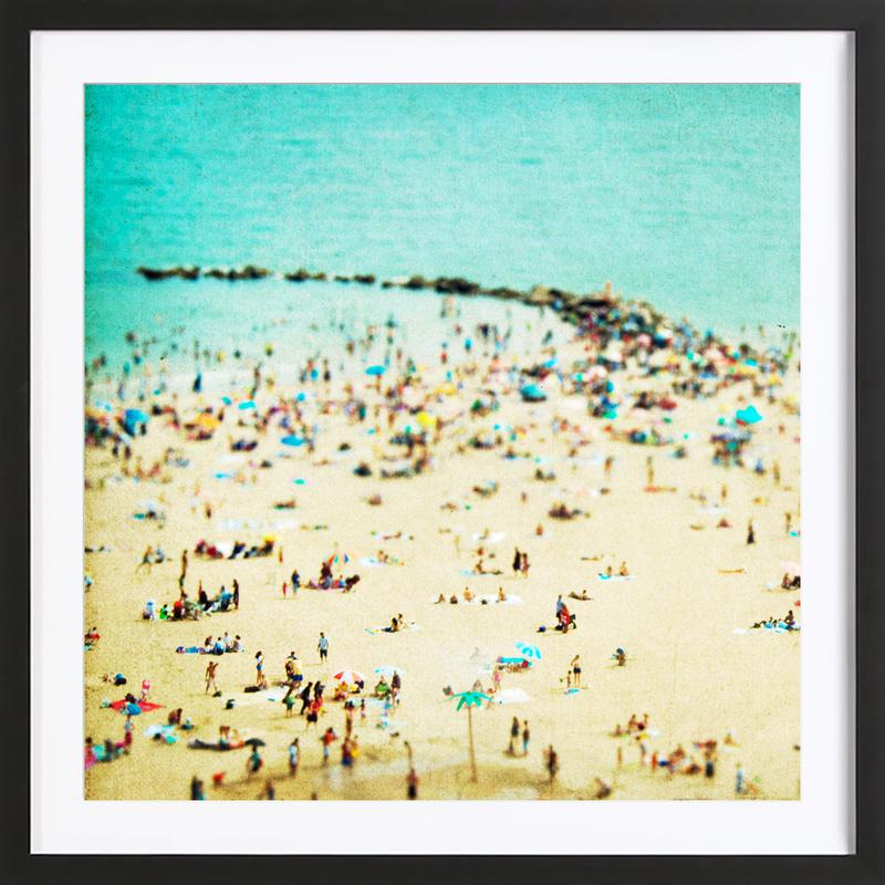 Coney Island Beach 2 Framed Print