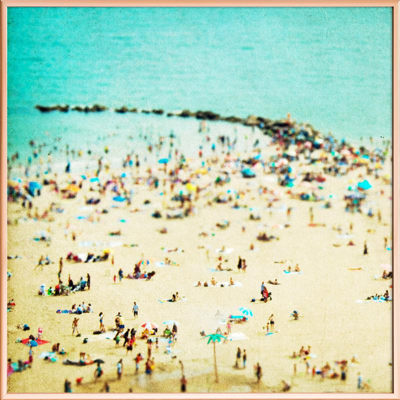 Coney Island Beach 2 Poster in Aluminium Frame