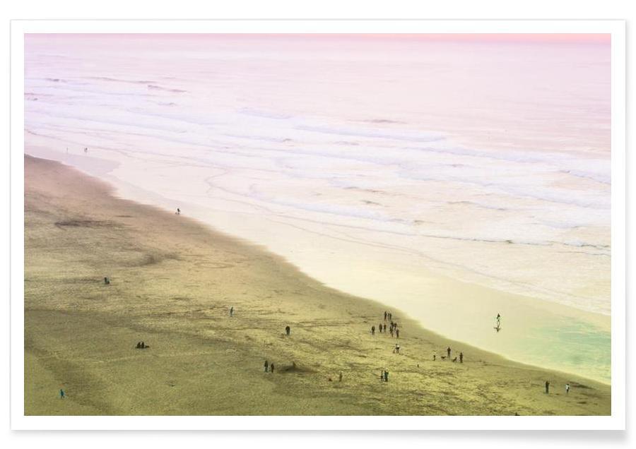 Plages, Ocean Beach California affiche