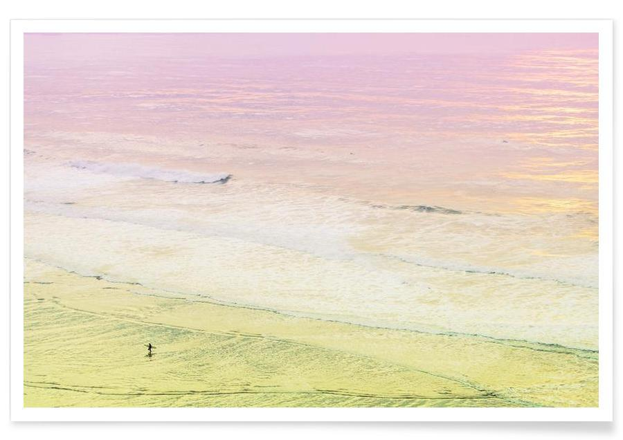 Ocean Beach California Surfer -Poster