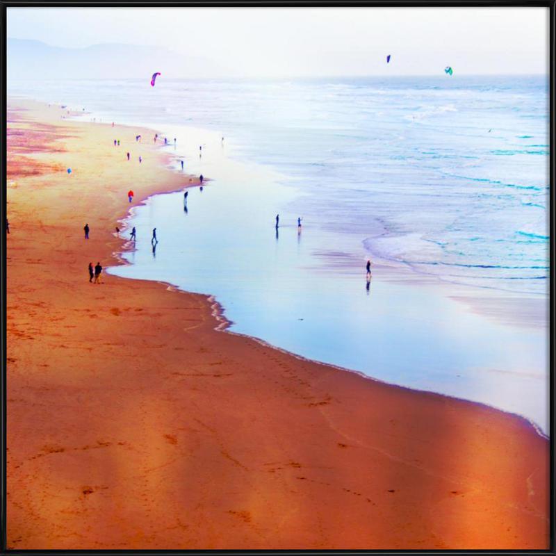 Ocean Beach California Winter ingelijste poster