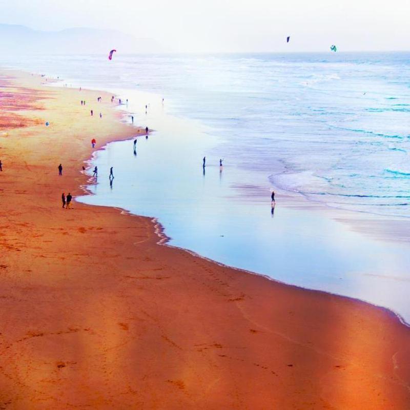 Ocean Beach California Winter canvas doek