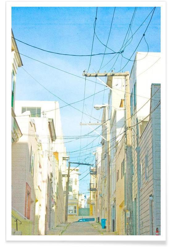 Détails architecturaux, San Francisco Alley affiche