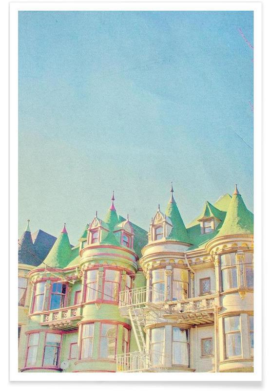 Détails architecturaux, San Francisco Fairytale affiche