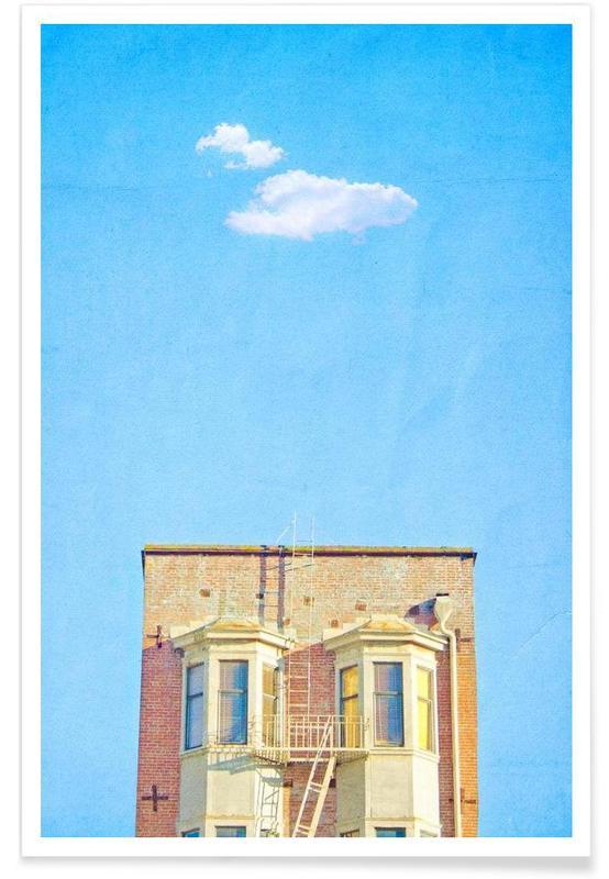 Détails architecturaux, San Francisco Loney Cloud affiche