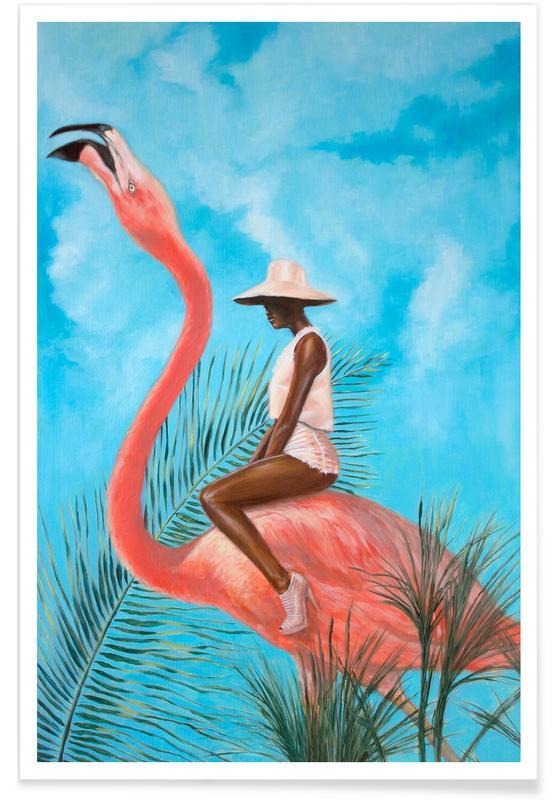 Flamingos, Mariage At The Plastic Garden -Poster