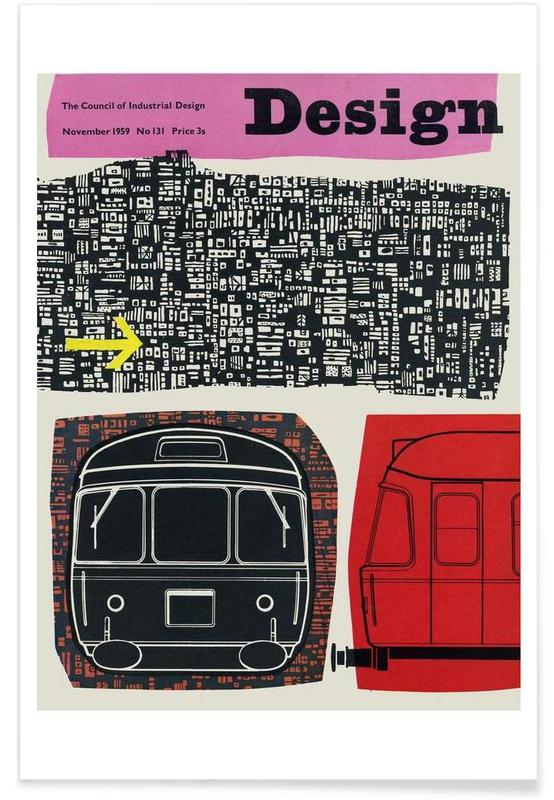 Vintage, 1958 Novmeber Design Magazine poster