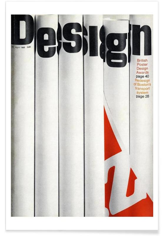 1968 April Design Magazine affiche