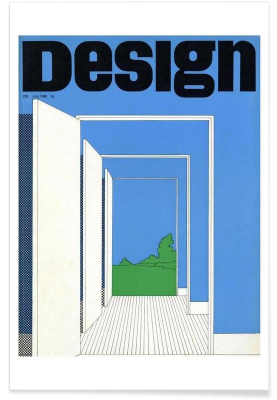 1968 July Design Magazine affiche