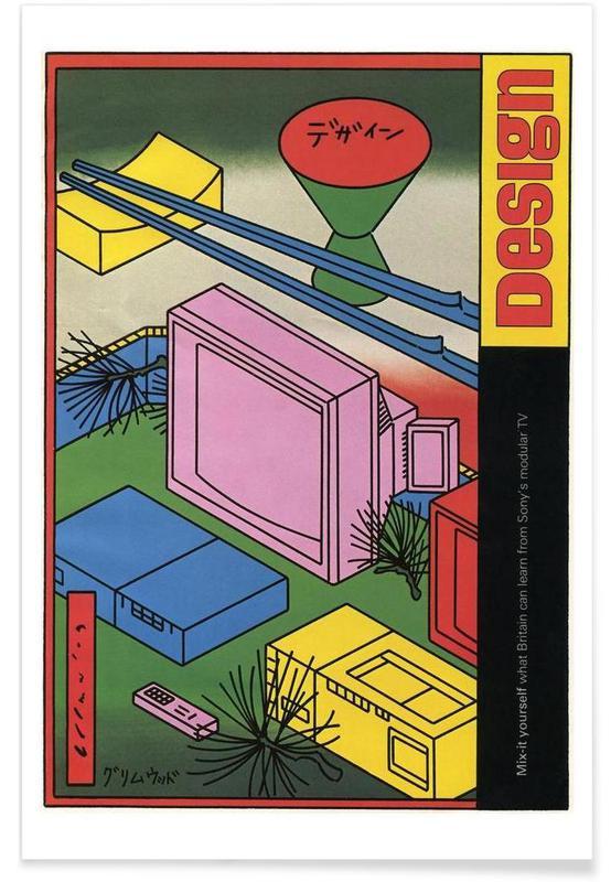 Vintage, 1981 Design Magazine affiche