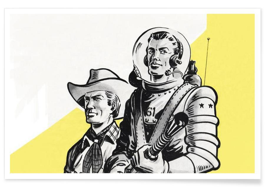 Astronauts and Cowboys Poster