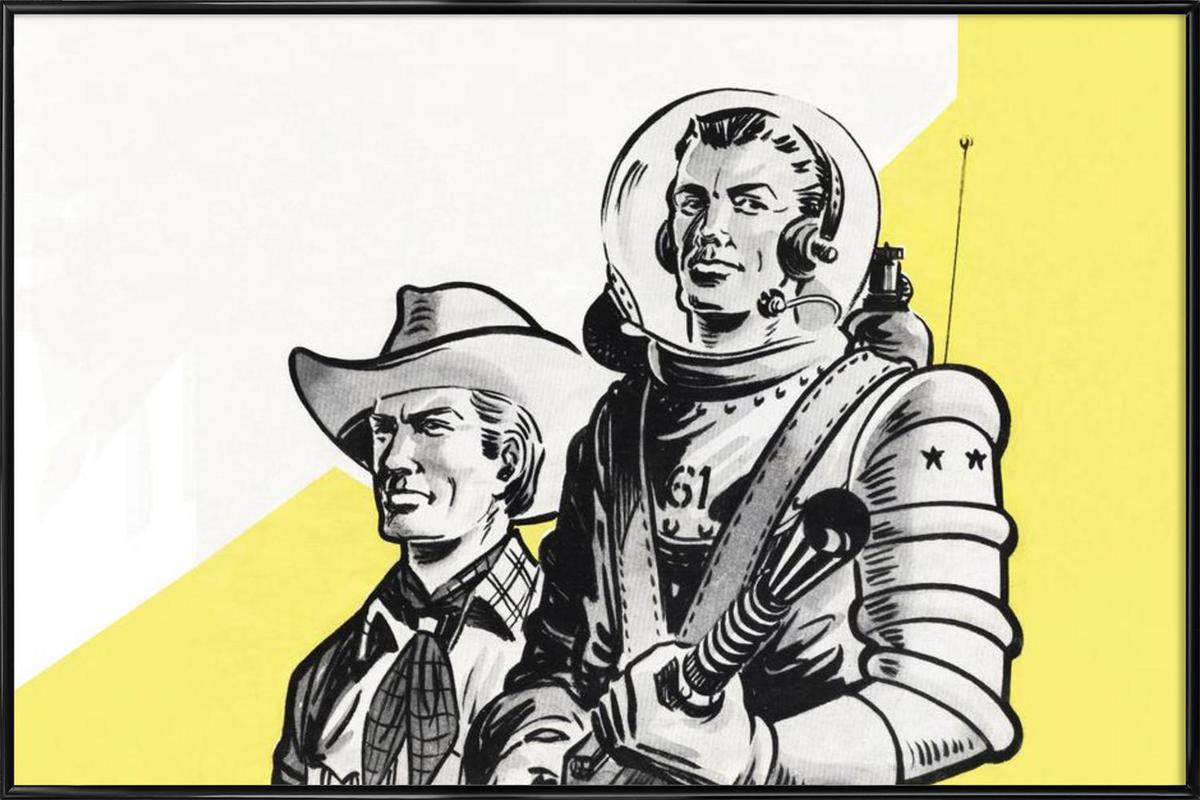 Astronauts and Cowboys Framed Poster