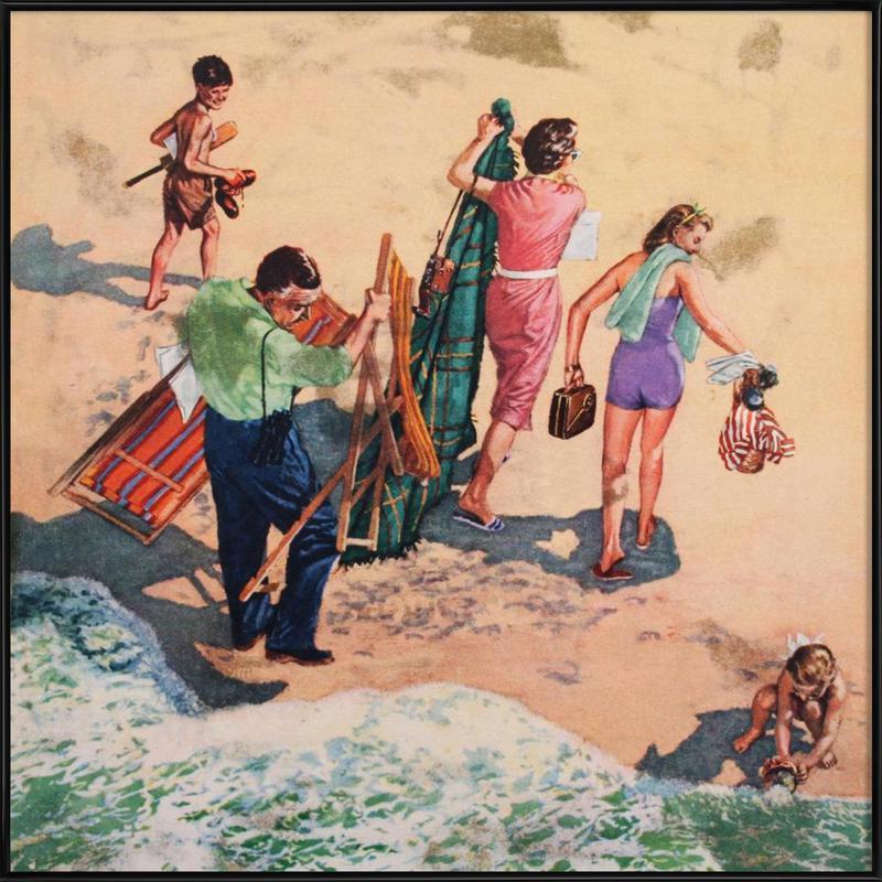 Family at the Seaside Framed Poster