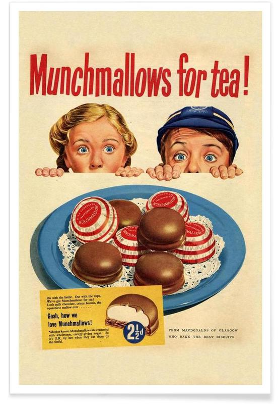 Vintage, Munchmallows poster