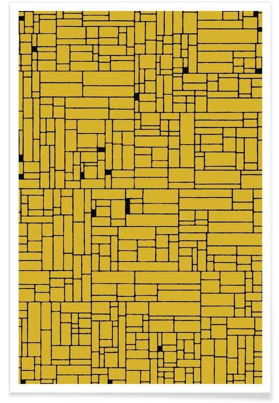 Computer Graphic yellow black affiche