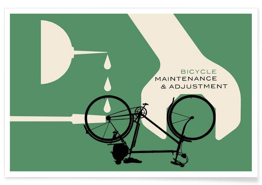 Vélos, Bicycle Maintenance and Adjustment affiche