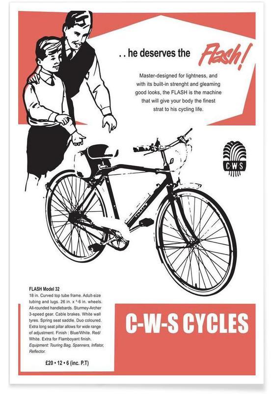 Bicycles, Vintage, Flash Poster