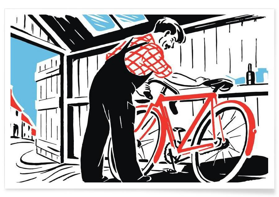 Bicycles, Red Bike Poster
