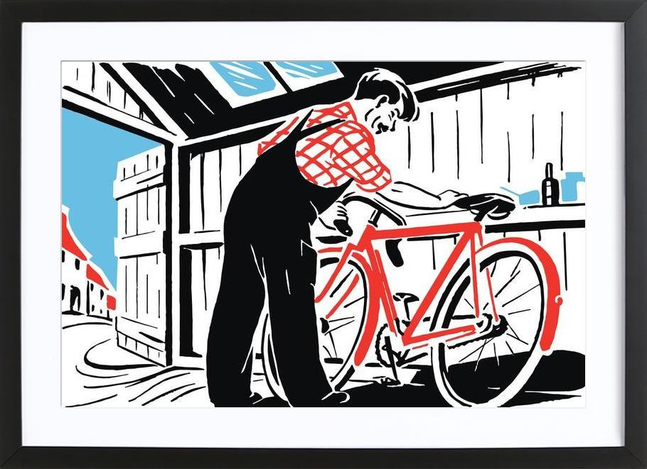 Red Bike Framed Print