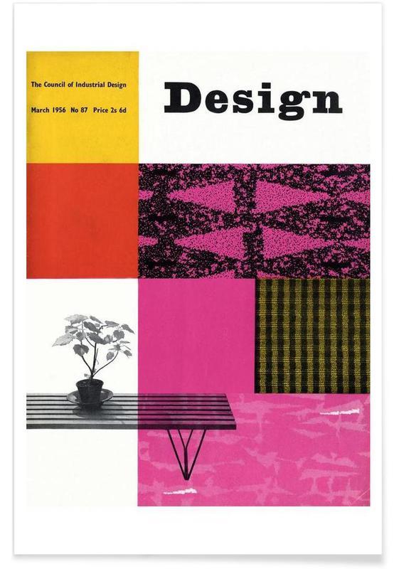 1956 March Design Magazine affiche