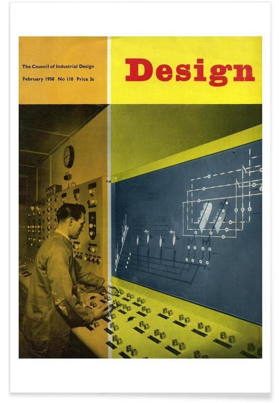 1958 February Design Magazine Poster