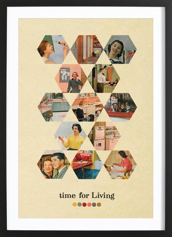 time for living Framed Print