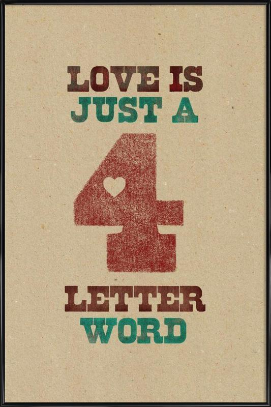 four letter word Framed Poster