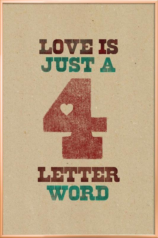 four letter word Poster in Aluminium Frame