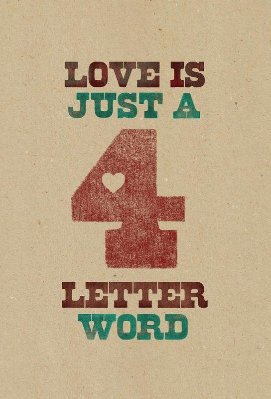 four letter word Acrylic Print