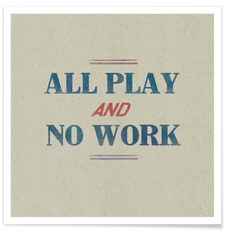 Citations et slogans, Work affiche