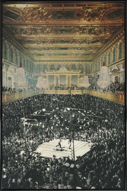 boxing in vienna Framed Poster
